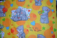 Ткань для детского постельного белья, бязь Топтыжка, фото 1