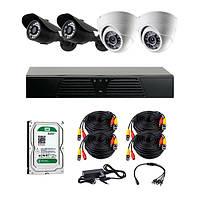 AHD комплекты видеонаблюдения CoVi Security HVK-3002 AHD KIT HDD 500 Гб