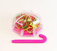 Резинка для волос силиконовая Зонтик-12 шт.