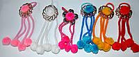 Детские резиночки для волос с висюльками (6 пар)