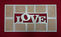 """Фоторамка """"LOVE"""" на 10 фото"""
