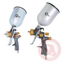 LVLP BRONZE NEW Профессиональный краскораспылитель 1,8 мм, верхний металлический бачок600 мл.INTERTOOL PT-0135