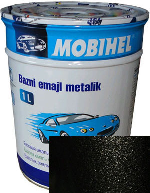 Автомобильная краска металлик 635 Черный шоколад HELIOS BC краска 1л