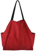 Женская замшевая сумка 8 красная