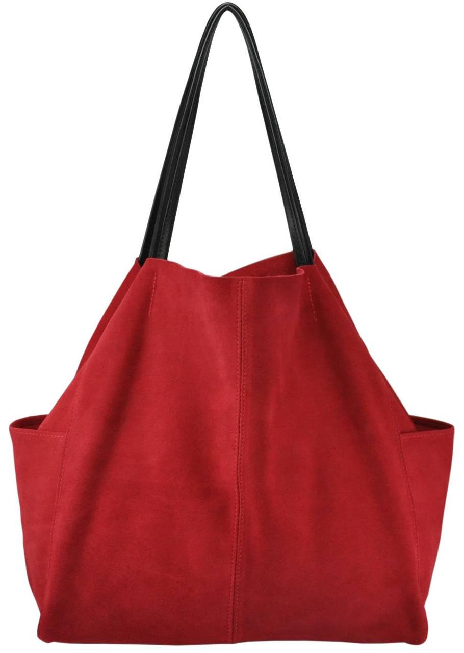 1fb5a6c0d867 Женская замшевая сумка 8 красная — купить в Киеве недорого