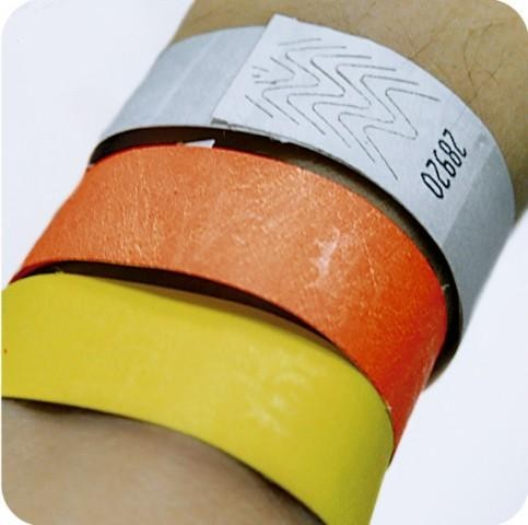 Бумажные контрольные браслеты tyvek мм от шт  Топ продаж Бумажные контрольные браслеты tyvek 3 4 19мм от 1000 шт