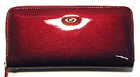 Красный женский кошелек кожаный