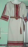 """Вишита  сукня """"Етнічна"""" кремова"""
