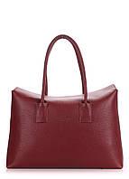 Кожаная сумка POOLPARTY  sense-marsala
