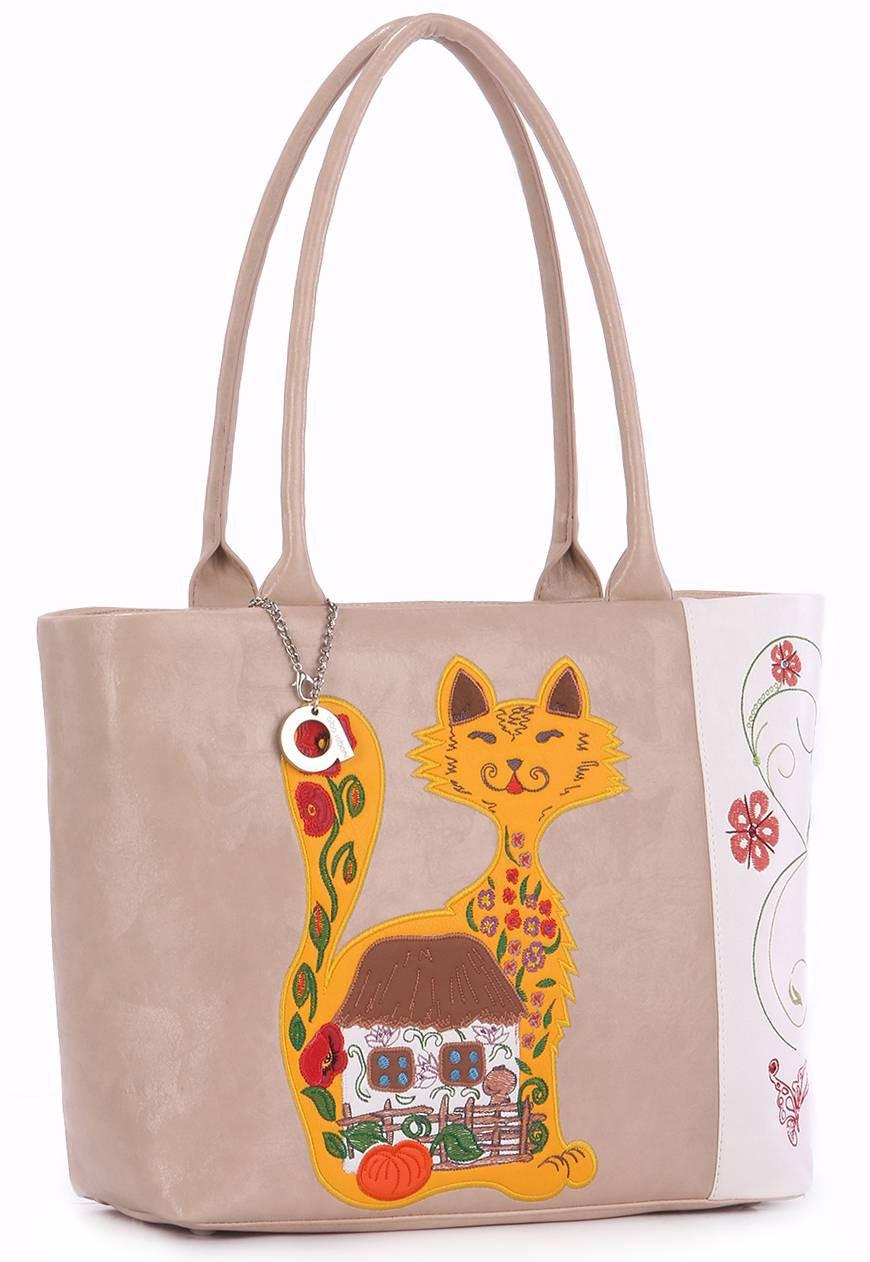 Женская сумка Alba Soboni 160011 белая с бежевым