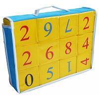 Мягкие кубики Розумна іграшка Цифры 12шт number12