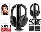 Беспроводные наушники Wireless Headphone 5 in1 - наушники для телевизора, фото 5