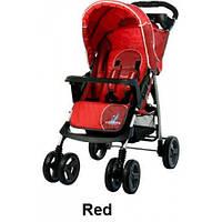 Прогулочная коляска Caretero Monaco - red, книжка, дождевик, чехол