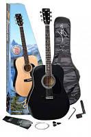 Акустическая гитара (металлические струны) Jay Turser JJ45 PAK BK (255739)