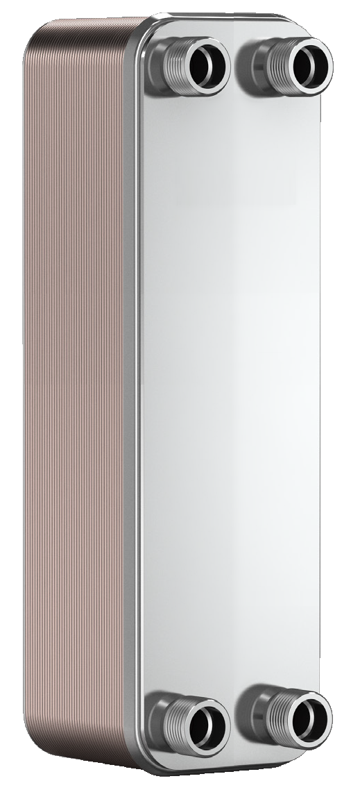 """Теплообменник BADER BL3-020-40,  3/4"""" (40-60kW) пластинчатый паянный"""