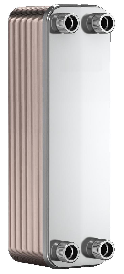 """Теплообменник BADER BL3-020-40,  3/4"""" (40-60kW) пластинчатый паянный, фото 1"""