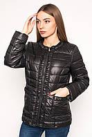 Черная  демисезонная короткая  куртка Letta