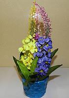 Букет с цветами в корзинке , необычный подарок девушке (женщине) на день рождения