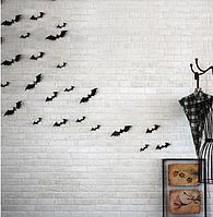 """Наклейка на стену, украшения наклейки """"12 шт. 3D летучие мыши наклейки 3Д"""" Хэллоуин  Halloween"""