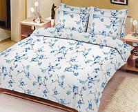 Комплект постельного белья вилюта ранфорс полуторный сакура голубая