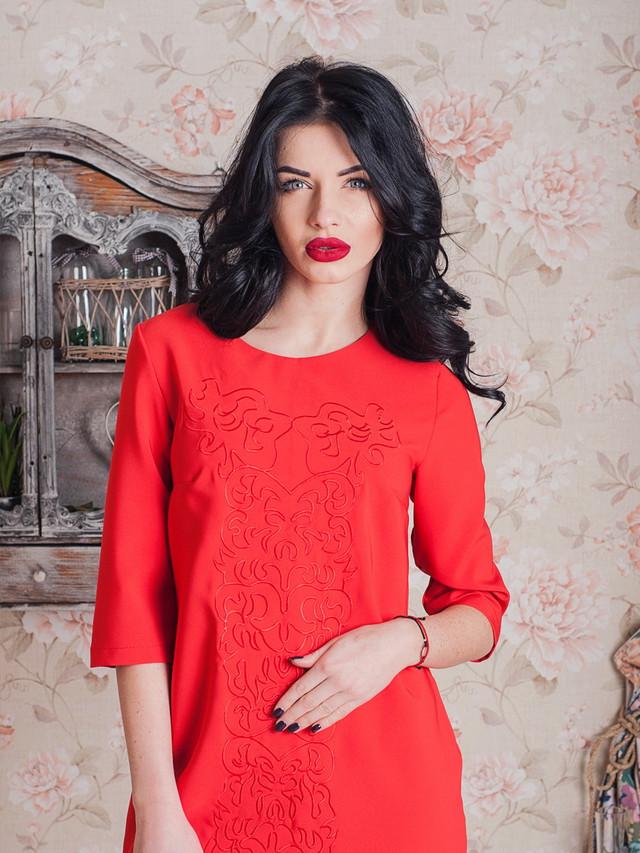 стильное платье с вышивкой, платье с современной вышивкой