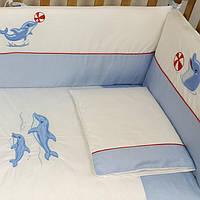 """Комплект постели  для новорожденных 6 ед  """"Marine Frieds""""  Верес™, фото 1"""