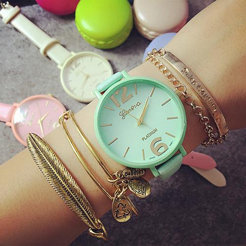Жіночі годинники Geneva Candy бірюзові