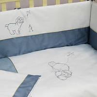 """Комплект  в кроватку 7ед """"Sweet Dreams"""" (беж. голубой), фото 1"""