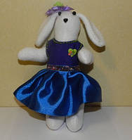 Зайка в синем платье, необычный подарок