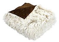 Плед искусственный мех 135х195 ( коричневый )