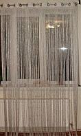 Нити серебро с люрексом 2м на люверсах, фото 1