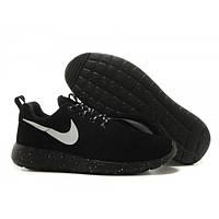 Женские кроссовки Nike Roshe Run II черные замшевые