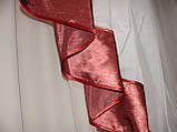 Жесткий ламбрекен стайл молочный и бордовый, фото 5