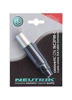 Комбо разъем ( панельный, кабельный ) Neutrik NC3FM-C-POS (281417)