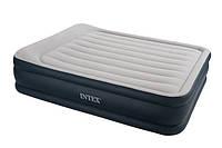 Кровать надувная двуспальная Intex 67736. Надувная кровать с подголовником и бортиком