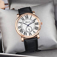 Женские часы Geneva с римскими цифрами черные