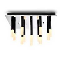 Потолочный светодиодный светильник квадратной формы, основание - хром. рассеиватели - акрил. CREE LED 12X3W