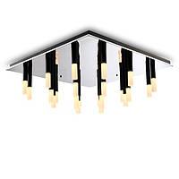 Потолочный светодиодный светильник 750*750mm, основание - хром. рассеиватель - акрил. CREE LED  72W CRI-90