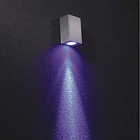 Светодиодное бра накладного монтажа 75*35*50sp мм LED CREE 1W CRI-80 100 Lm. Корпус - алюминий драйвер включен, фото 1