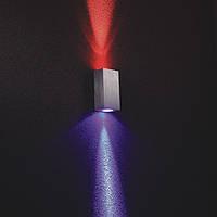 Накладное бра двойное, 97*35*50sp мм. LED CREE 2*1W, CRI-80, 200 Lm. Корпус - алюминий, драйвер включен, фото 1