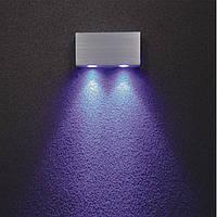 Светодиодное бра накладного монтажа 120*60*30sp мм. LED 2W, CRI-80, 200 Lm. Корпус - алюминий драйвер включен., фото 1