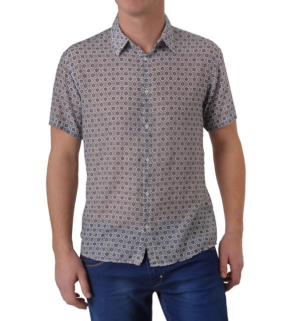Рубашка хлопок шелк большой размер