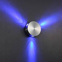 Накладное бра, свет в три стороны 90*36sp мм. LED 3*1W 10грд.CRI-80, 300 Lm. Корпус - алюминий драйвер включен, фото 1