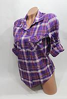 Женская молодежная рубашка в клетку *N* оптом в Хмельницком