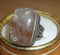 """Шикарное кольцо с рутиловым кварцем (волосатиком)""""Юпитер"""", размер 19,3 от Студии  www.LadyStyle.Biz"""