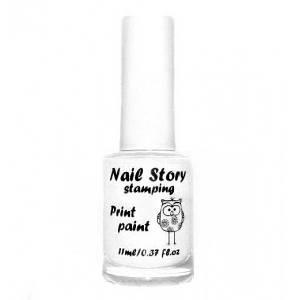 Лак для стемпинга Nail Story - белый, 11 мл