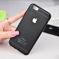"Накладка силикон TPU original + metal logo for iPhone 6/6S (4,7"") Black"