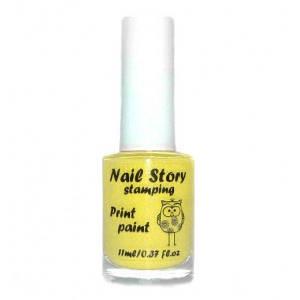 Лак для стемпинга Nail Story № 13 желтый, 11 мл