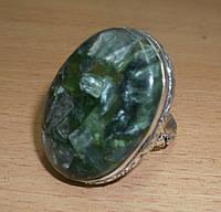 """Серебряный перстень  с натуральным серафинитом """"Овал"""" , размер 20 от студии LadyStyle.Biz"""