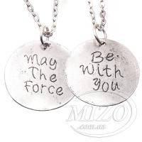 Кулон-медальон «Да пребудет с тобой сила» из саги «Звездные Войны»